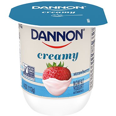 Dannon Creamy Nonfat Yogurt, Strawberry 4oz