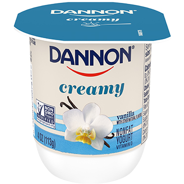 Dannon Creamy Nonfat Yogurt, Vanilla 4oz