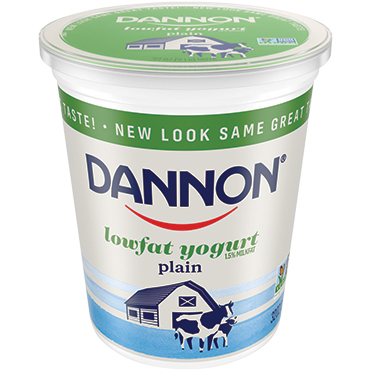 Dannon Lowfat Plain Yogurt, 32oz