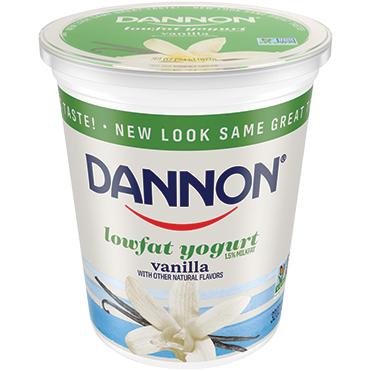 Dannon Lowfat Vanilla Yogurt, 32oz