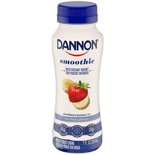 Dannon Nonfat Yogurt Smoothie, Strawberry Banana 7oz