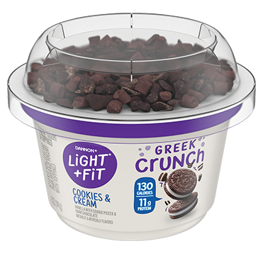 Light + Fit Greek Crunch Nonfat Yogurt, Cookies & Cream 5oz