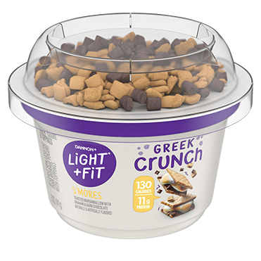 Light & Fit Greek Crunch Yogurt, S'mores 5oz