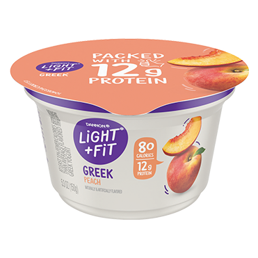 Light + Fit Nonfat Greek Yogurt, Peach 5.3oz