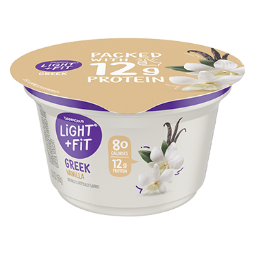 Light + Fit Nonfat Greek Yogurt, Vanilla 5.3oz