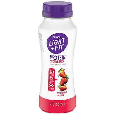 Light + Fit Nonfat Protein Smoothie Yogurt Drink, Strawberry 7oz
