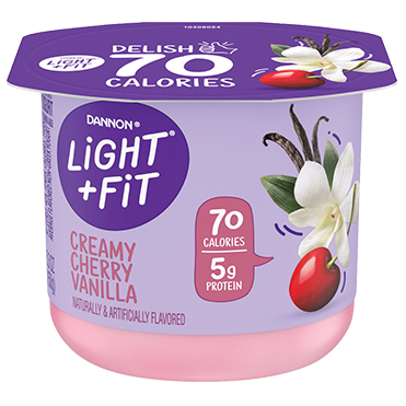 Light + Fit Nonfat Yogurt, Cherry Vanilla 5.3oz
