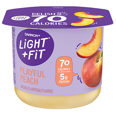 Light + Fit Nonfat Yogurt, Peach 5.3oz