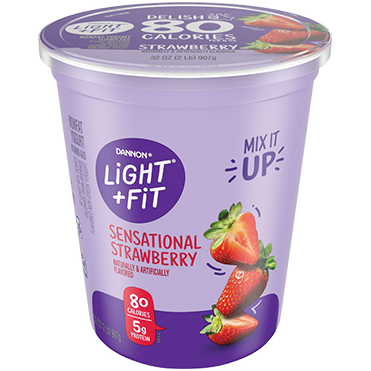 Light + Fit Nonfat Yogurt, Strawberry 32oz