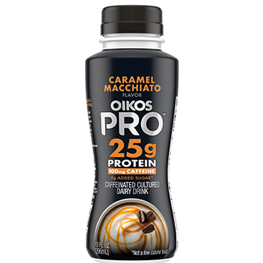 Oikos Pro Caffeinated Cultured Dairy Drink, Caramel Macchiato, 10oz
