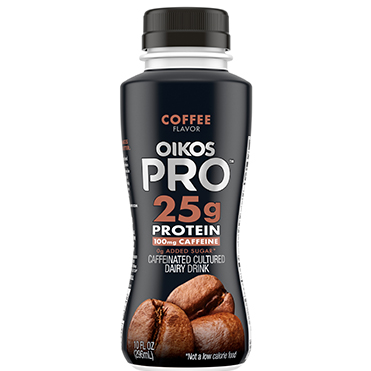 Oikos Pro Caffeinated Cultured Dairy Drink, Coffee, 10oz
