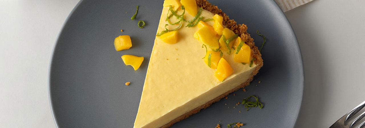 Mango and Cardamom Lassie Yogurt Pie