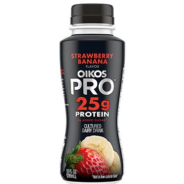 Oikos Pro Cultured Dairy Drink, Strawberry Banana, 10oz