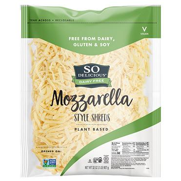 So Delicious<sup>®</sup> Dairy Free Cheese Alternative, Mozzarella Style Shreds