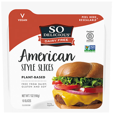 So Delicious<sup>®</sup> Dairy Free Cheese Alternative, American Style Slices