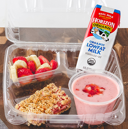 Strawberry and Yogurt Oat Bars