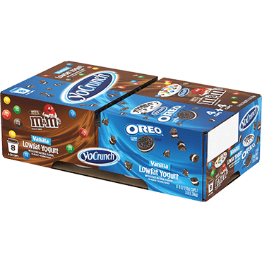YoCrunch Lowfat Yogurt with Oreo® and M&Ms® 8-ct Variety Pack, 4oz