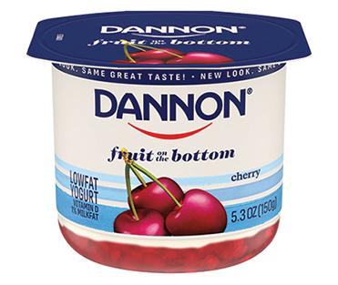 Dannon Fruit on the Bottom Yogurt, Cherry 5.3oz