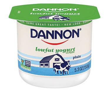 Dannon Lowfat Yogurt, Plain 5.3oz