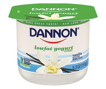 Dannon Lowfat Yogurt, Vanilla 5.3oz