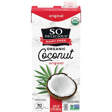 So Delicious Dairy Free Original Organic Coconutmilk Aseptic Quart