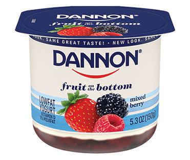 Dannon Fruit on the Bottom Yogurt, Mixed Berry 5.3oz