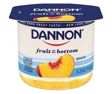 Dannon Fruit on the Bottom Yogurt, Peach 5.3oz