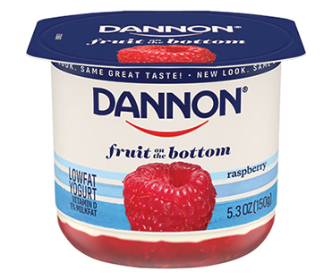 Dannon Fruit on the Bottom Yogurt, Raspberry 5.3oz