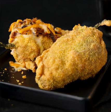 Cornmeal Crusted Stuffed Jalapenos