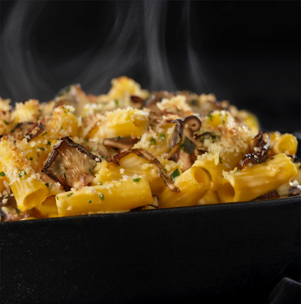 Mac & Cheese With Local Mushrooms