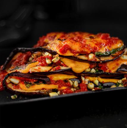 Eggplant & Shiso Involtini