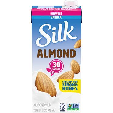 Silk Almondmilk, Unsweetened Vanilla 32oz