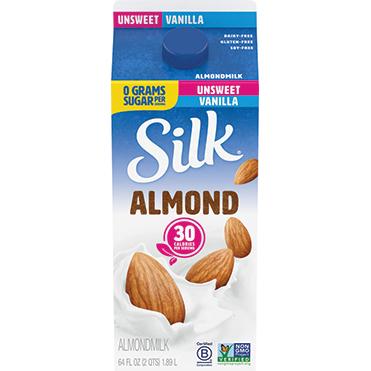 Silk Almondmilk, Unsweetened Vanilla 64oz