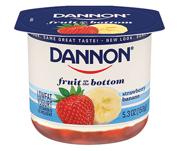 Dannon Fruit on the Bottom Yogurt, Strawberry Banana 5.3oz