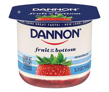 Dannon Fruit on the Bottom Yogurt, Strawberry 5.3oz