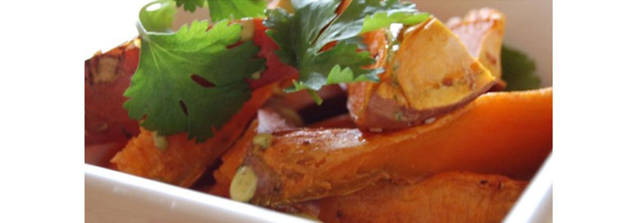 Sweet Potato Fries with Chili Yogurt Cilantro Sauce