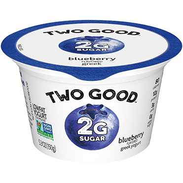 Two Good™ Greek Lowfat Yogurt, Blueberry 5.3 oz
