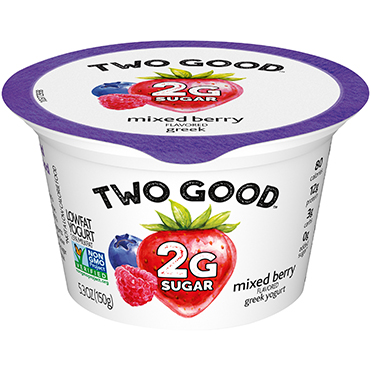 Two Good™ Greek Lowfat Yogurt, Mixed Berry 5.3 oz