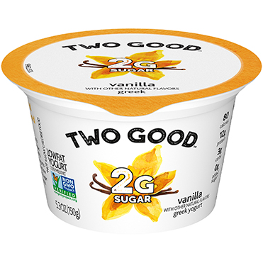 Two Good™ Greek Lowfat Yogurt, Vanilla 5.3 oz