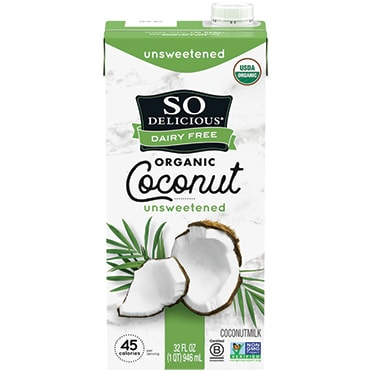 So Delicious Dairy Free Unsweetened Original Organic Coconutmilk Aseptic Quart