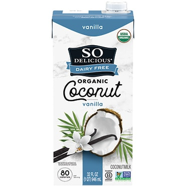 So Delicious Dairy Free Vanilla Coconutmilk Aseptic Quart