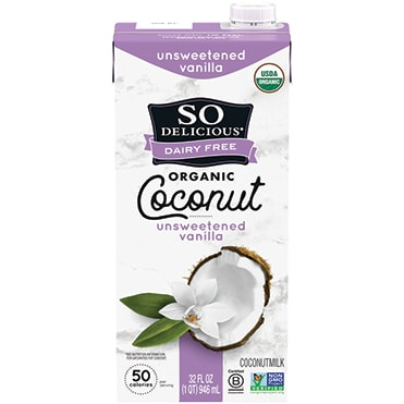 So Delicious Dairy Free Unsweetened Vanilla Coconutmilk Aseptic Quart